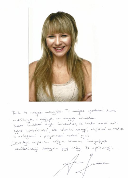 Anna Guzik wspiera